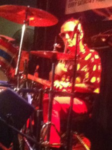 Drummer onstage at Buds on Broadway, where bands have been playing for decades! Photo by Anthony Towstego