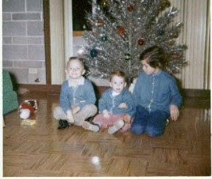 Lon, Anthony and Colleen Towstego, Christmas 1960's