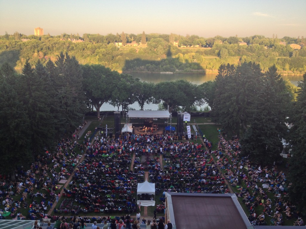 The Barenaked Ladies performing to a sold-out crowd in The Bessborough Gardens (Photo by Melissa Henderson)
